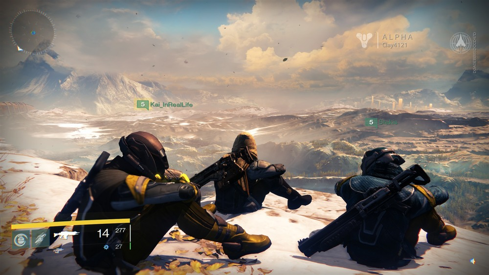 three heroes relaxing after a long day of being totally Epic. If you feel like joining us in Destiny you can play along with us on Playstation. Clay4121 and Kai_InRealLife.