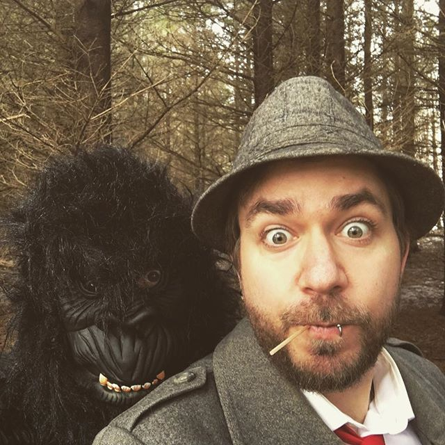 Detective Carter hot on the case of Big Foot. #bigfoot #detective #weird #getweird #film #movies #web