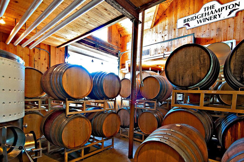 barrels in tank room