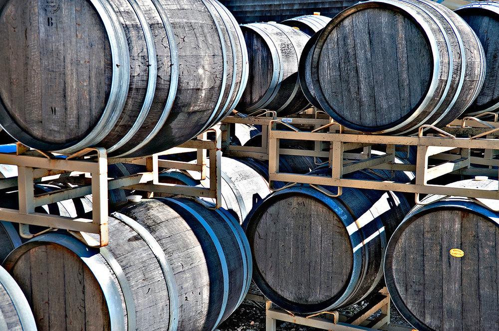barrels outside