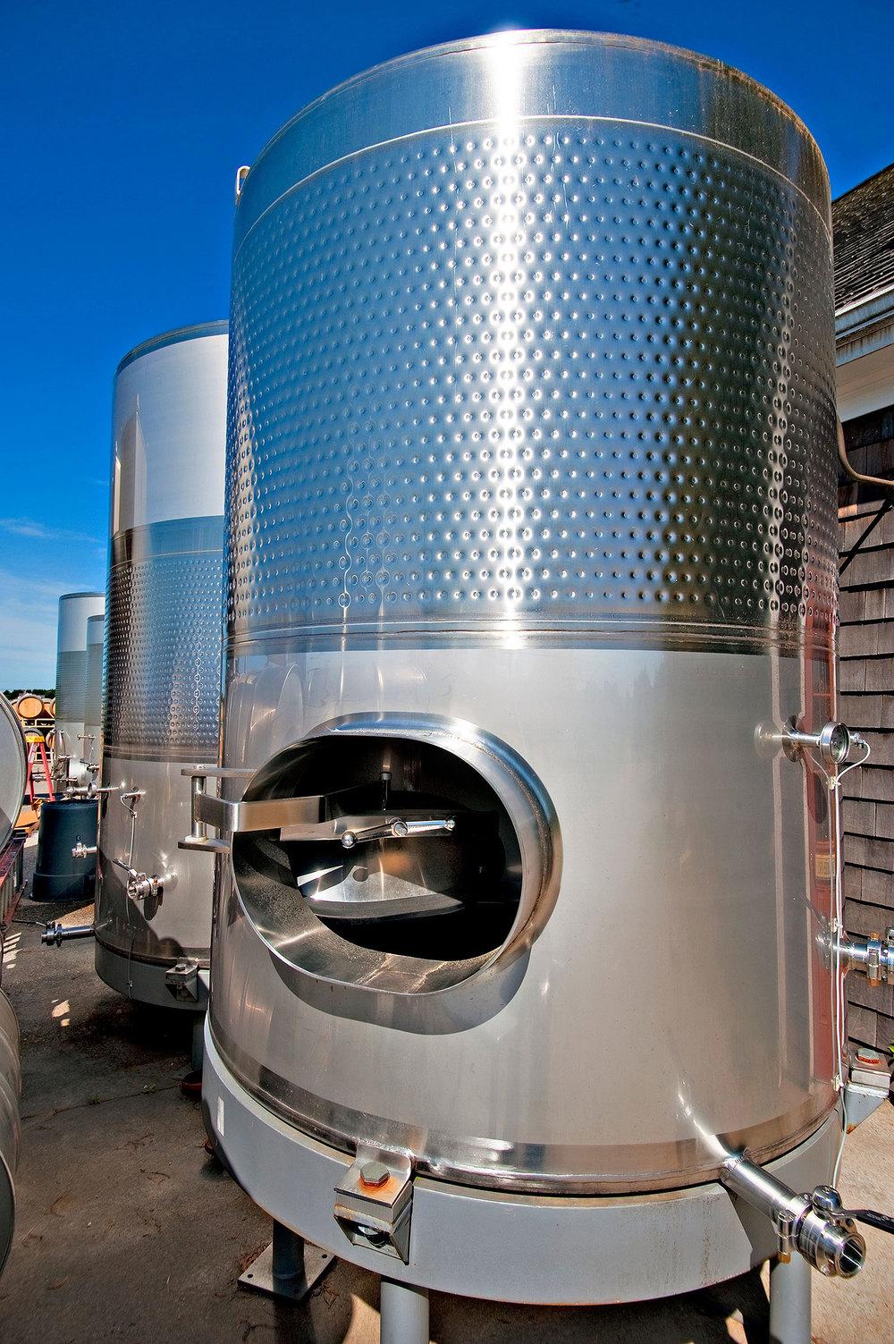 empty wine tank