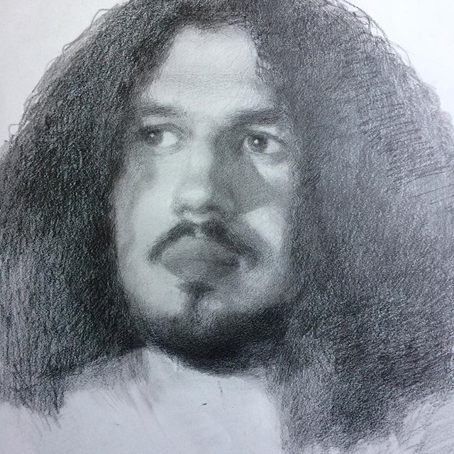 Portrait sketch - that mass of black is all curls!