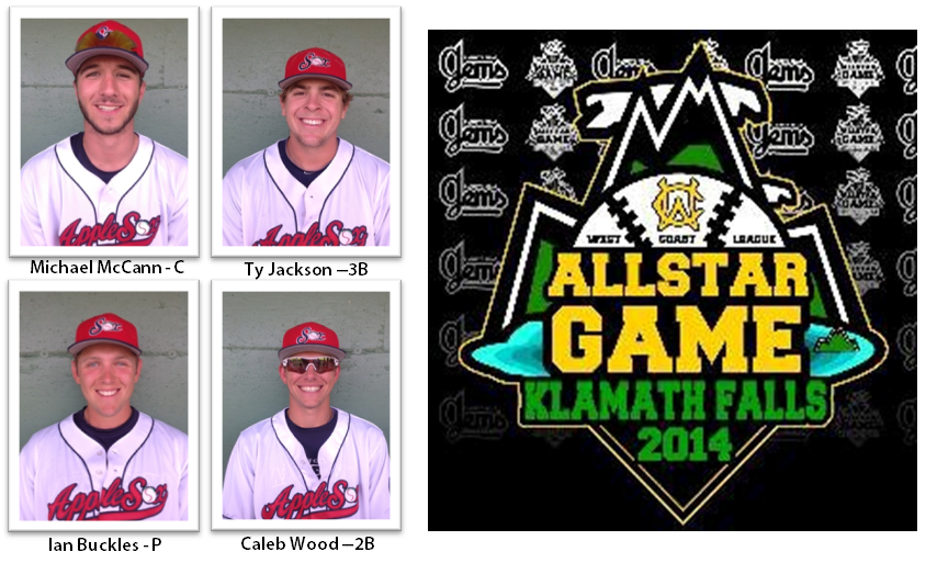 The AppleSox had four players named to the WCL North All Star Team on Tuesday.
