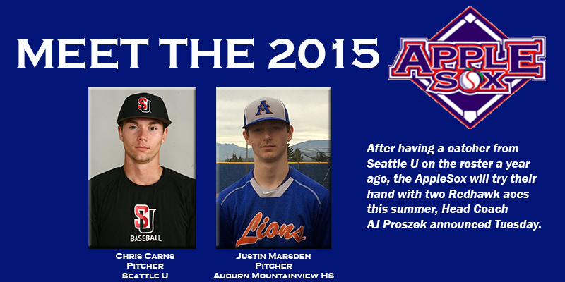 The AppleSox will add a pair of arms from Seattle U to their roster this season.