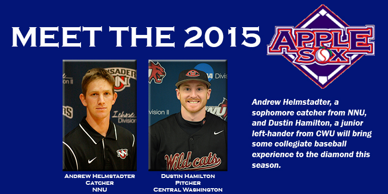 The AppleSox two newest additions are from Central Washington and Northwest Nazarene, Head Coach AJ Proszek announced Tuesday.
