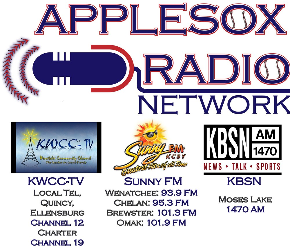 KBSN Moses Lake joins the AppleSox flagship station, Sunny FM 93.9 (Wenatchee) and KWCC-TV to broadcast the Wenatchee AppleSox 16th West Coast League season.