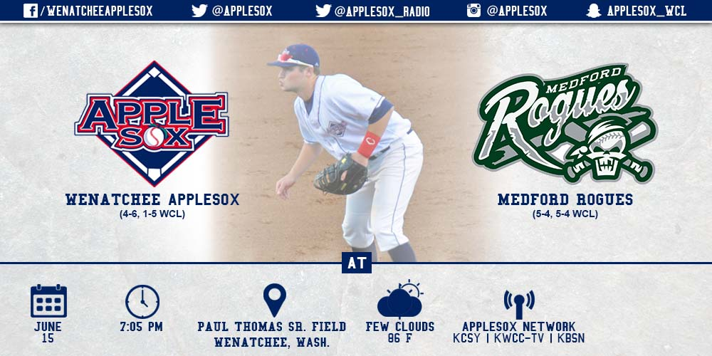 The AppleSox and Rogues kick off a three game set, with the first tonight, Mascot Night, at 7:05 p.m.