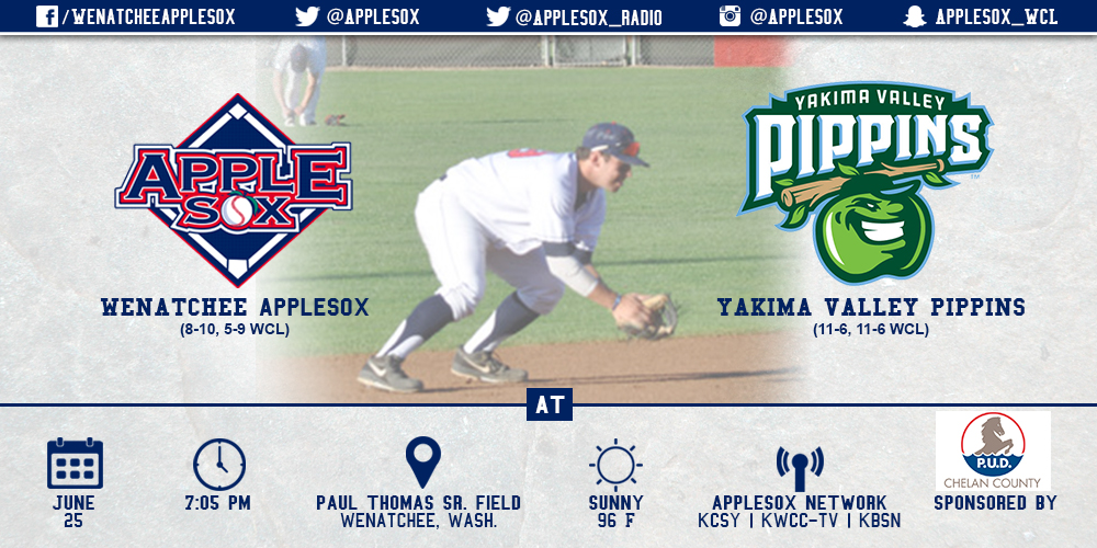 The AppleSox and Pippins square off in game three of the home series, at 7:05 p.m., at Paul Thomas Sr. Field.