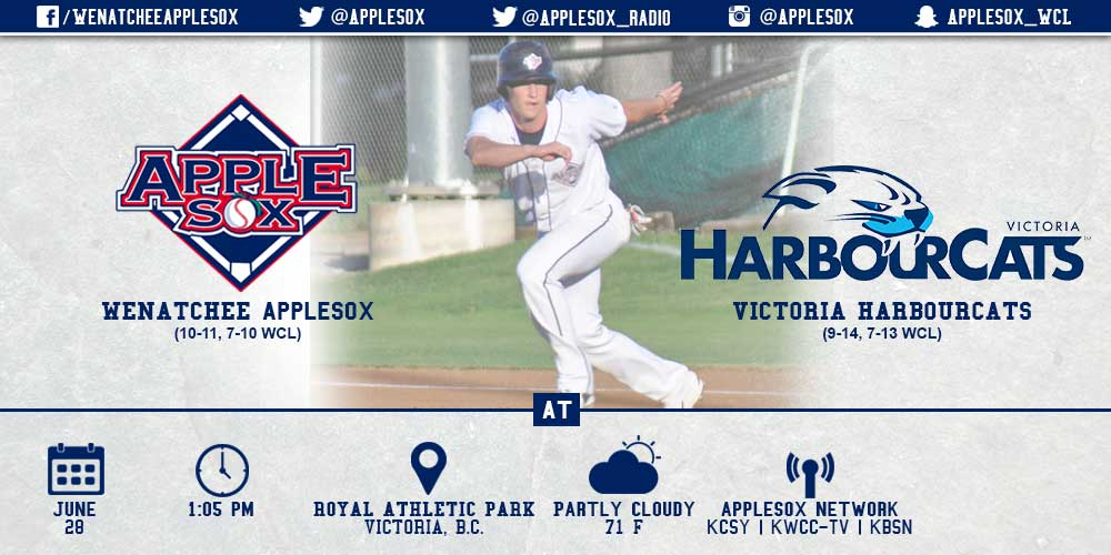 The AppleSox are looking for their second sweep of the year at Victoria, Sunday afternoon.