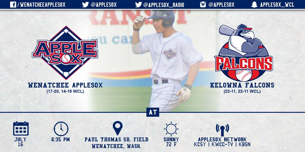 The AppleSox look to carry their momentum from a series win against the WCL East leaders in Wenatchee, to British Columbia, as a home-and-home set continues, Thursday.