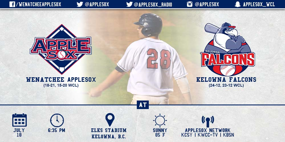 The AppleSox and Kelowna cap the pre-All Star schedule, Saturday, with a series-deciding game for the second time over the last six games.