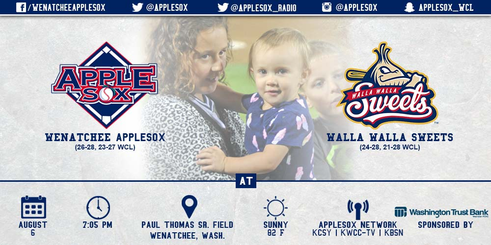 The AppleSox and Walla Walla Sweets close the 2015 schedule at Paul Thomas Sr. Field, on Fan Appreciation Night, Thursday.