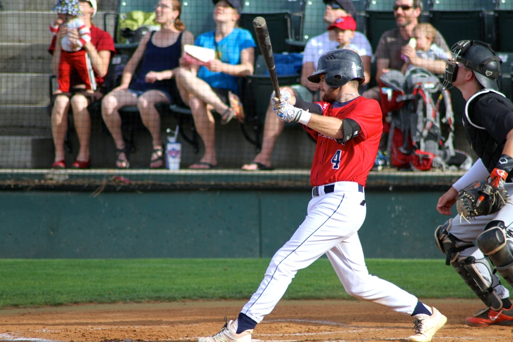 Parker Price delivered a game-winning RBI single for the AppleSox in the 12th inning, Wednesday night. Wenatchee walked off the Sweets to win the game 5-4.