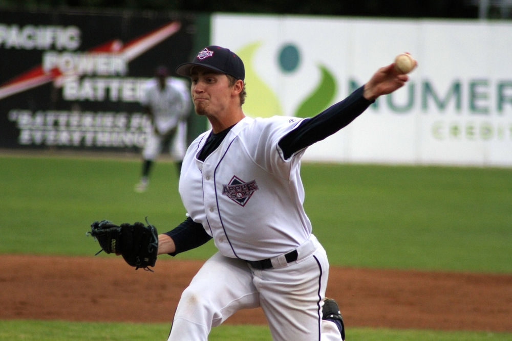 Justin Blatner will be on the hill for the Wenatchee AppleSox to start the second half of a six-game road trip at Gresham.