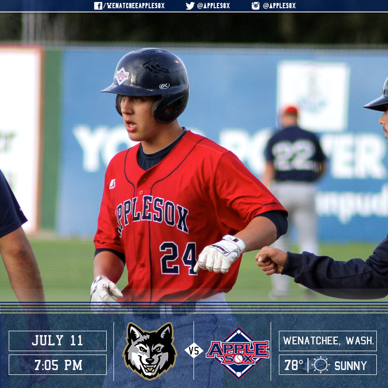 The AppleSox wrap up a series with the Gresham GreyWolves, Monday night at Paul Thomas Sr. Stadium.