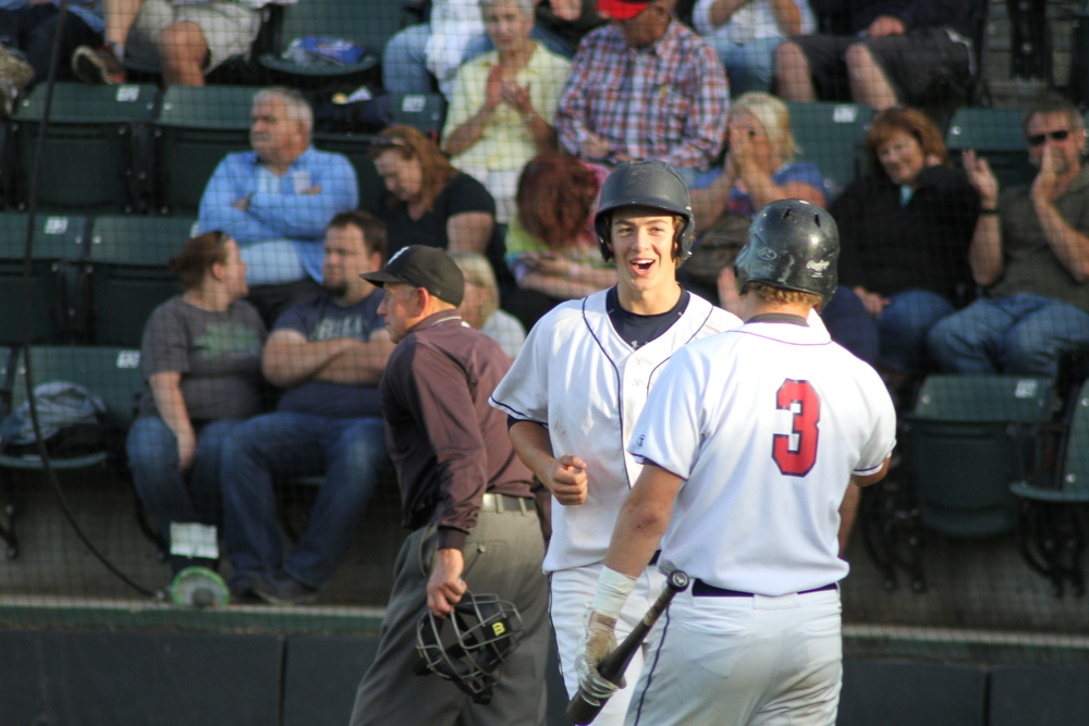 Michael Toglia and Evan Douglas (above), each homered Tuesday, but it wasn't enough for the AppleSox in a 13-3 loss.