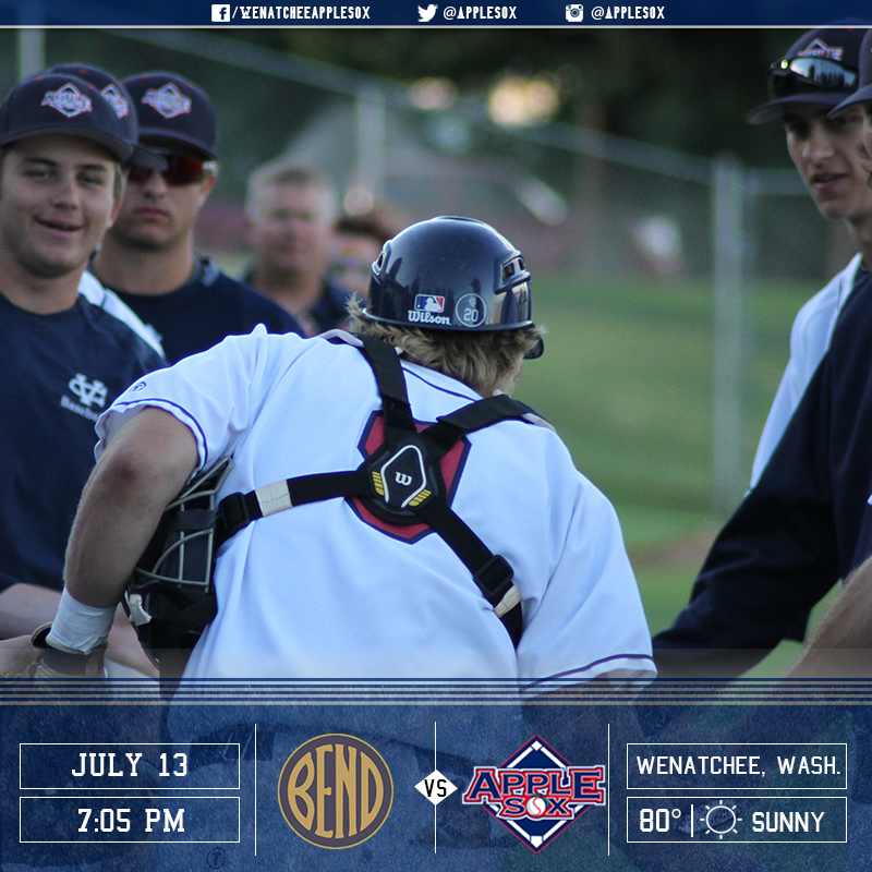 The AppleSox and the Elks are tied at 2-2 on the season series in 2016. Wenatchee and Bend meet tonight at 7:05 p.m. for game two of a three-game series.