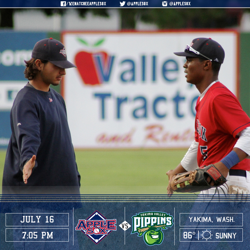 The Yakima Valley Pippins and the Wenatchee AppleSox play for a second time on the weekend, Saturday night at County Stadium.