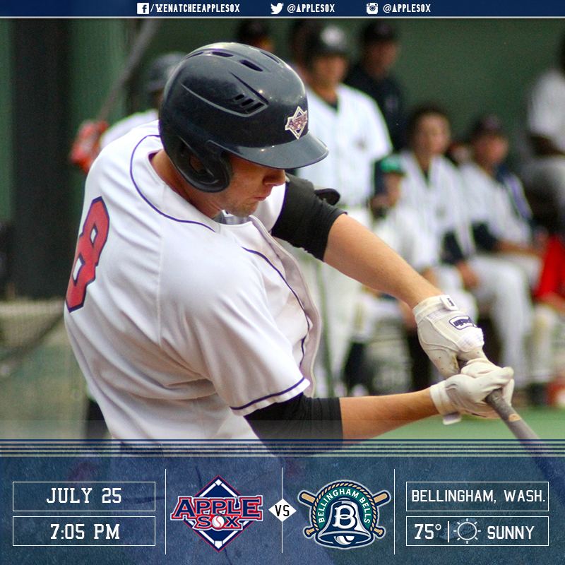 The AppleSox are trying for their first sweep of 2016, Monday, with a 7:05 p.m. first pitch at Bellingham.