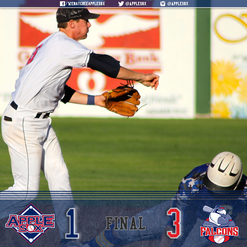 The AppleSox fell in a great pitching game, Thursday, 3-1 at Elks Stadium in Kelowna, B.C.
