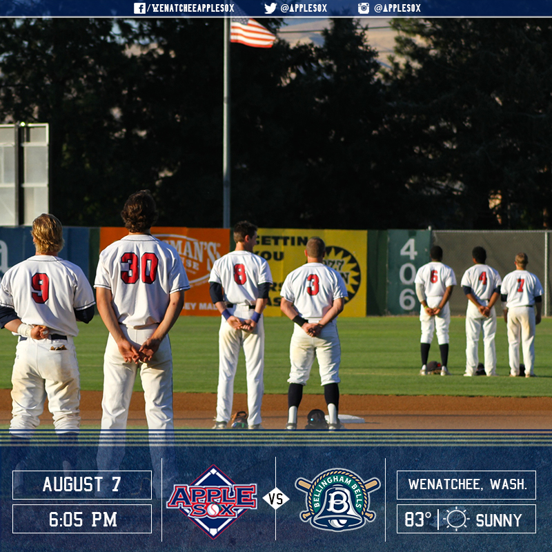 The AppleSox end the 2016 season at home, Sunday, against the Bellingham Bells.