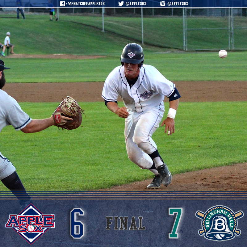 The AppleSox fell 7-6 in their series finale, Sunday, at Paul Thomas Sr. Stadium.