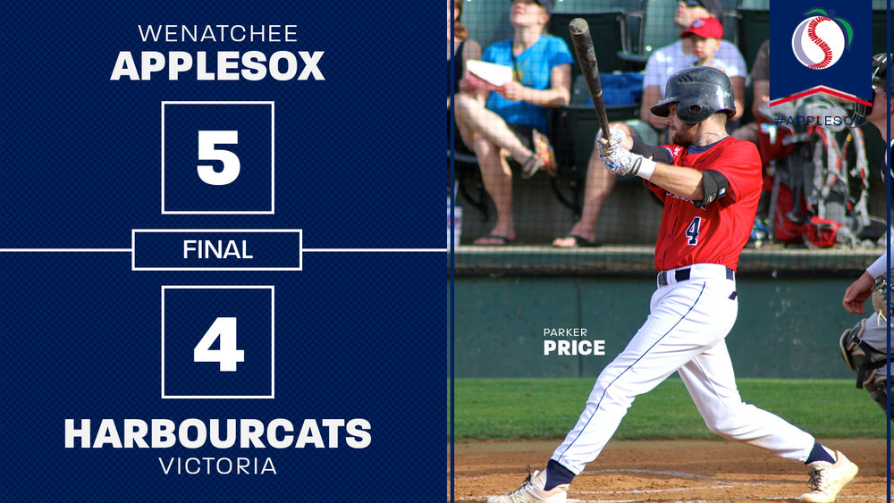 Parker Price delivered the game-winning run for the AppleSox in the bottom of the ninth inning, with a single to left field, Thursday. It was his fourth hit of the night in the AppleSox home-opening victory.
