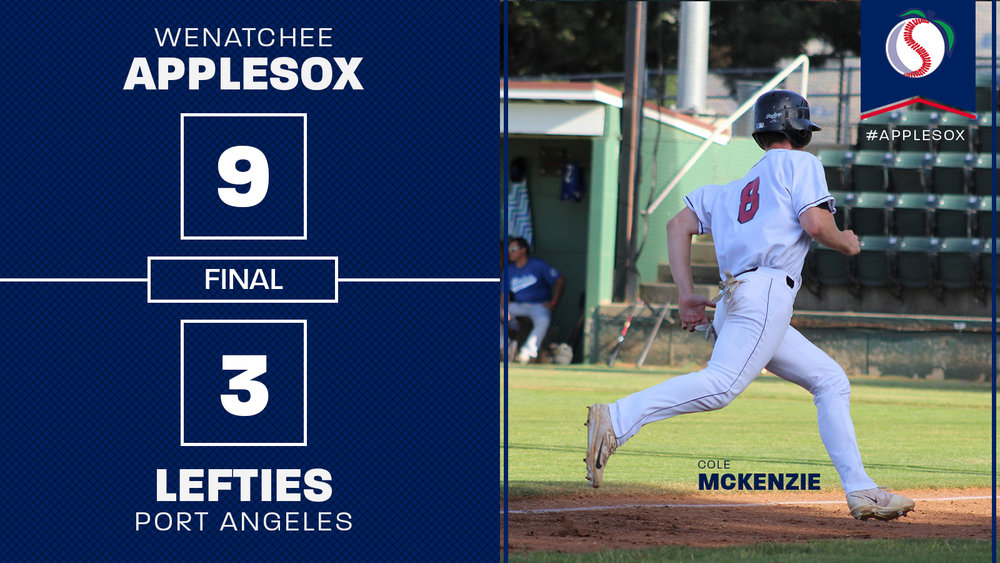 Cole McKenzie opened the scoring, Wednesday night with a solo home run in the third.
