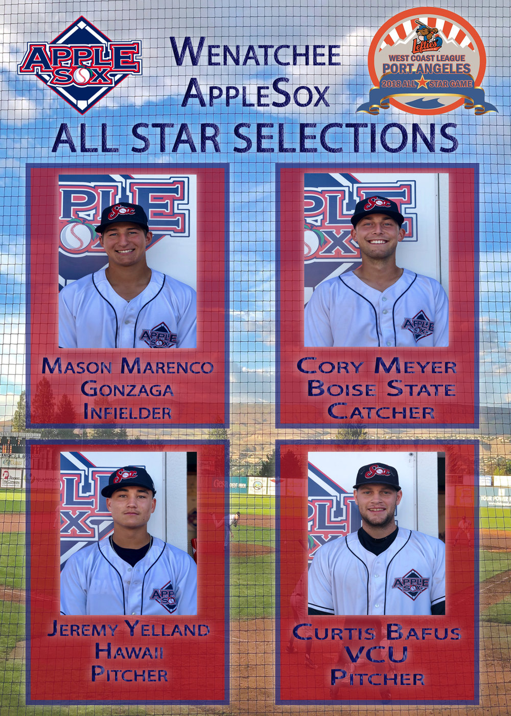 2a14dacbb110 FOUR APPLESOX NAMED 2018 WEST COAST LEAGUE ALL-STARS
