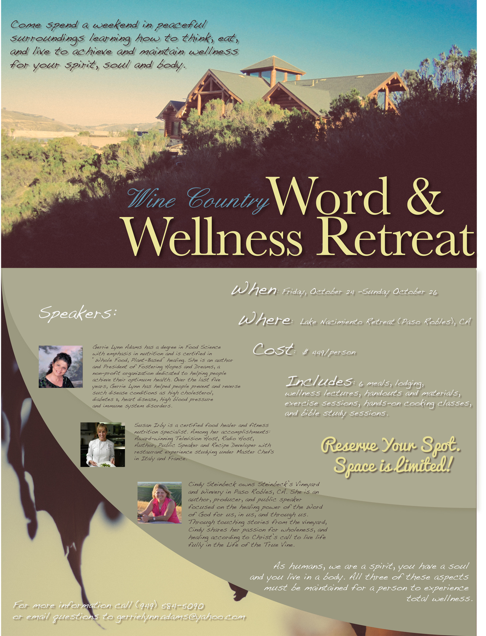 Word and Wellness Retreat Flyer