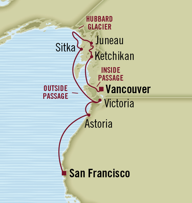 Sample Alaska cruise itinerary