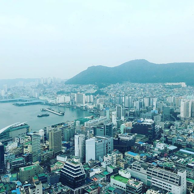 #busan #skyline #southkorea #asia #korea #mountains #sea #instatravel