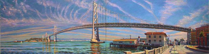 Bay Bridge Panorama, oil/canvas, 2007