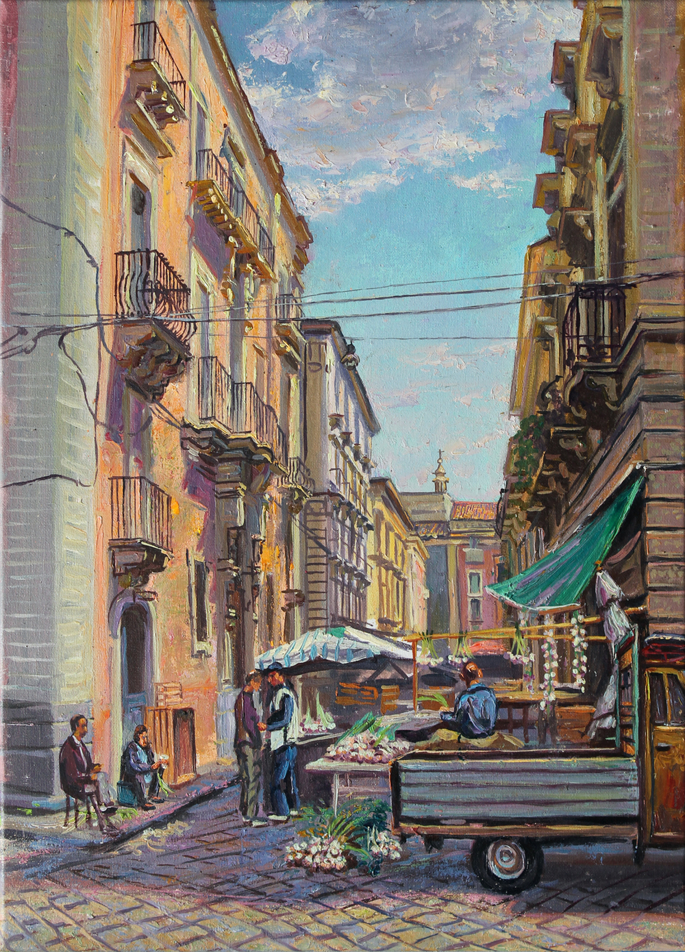 Garlic Vendors in Catania, Sicily