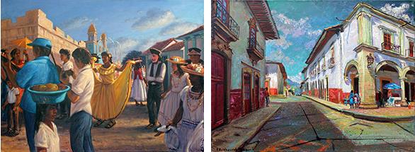 The Festival of Diriamba, Nicaragua, 1984  Un Rincon de la Plaza Grande, Patzcuaro, Mexico
