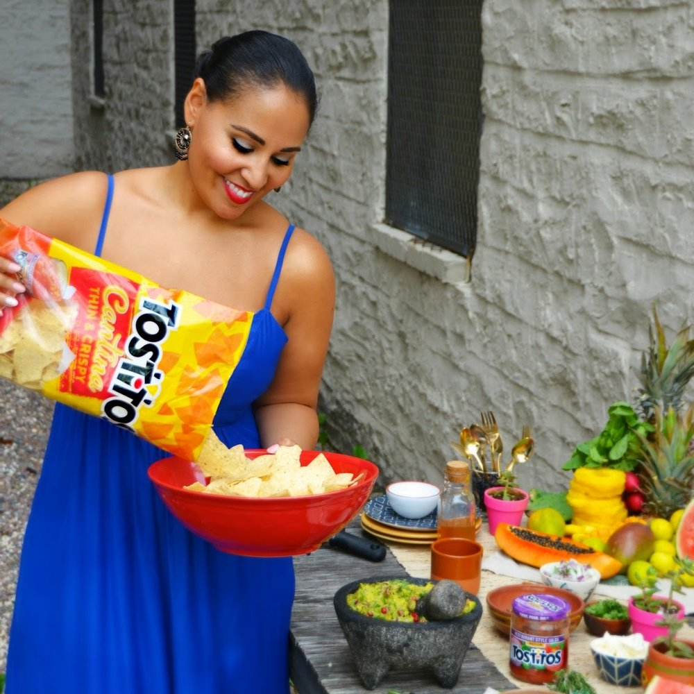 "CLIENT: TOSTITOS    Assets:  Recipe development, lifestyle photography, and social media promotion   Project:  To mark the limited-time-only launch of their Tostitos Sopapilla chips, Tostitos asked me to create a Cinco de Mayo-themed party tips post featuring an original recipe and entertaining ideas. I used the product to create a recipe for ""Fried Ice Cream Sundaes,"" as well as created a series of tips that used other Tostitos products.   CLICK TO VIEW"
