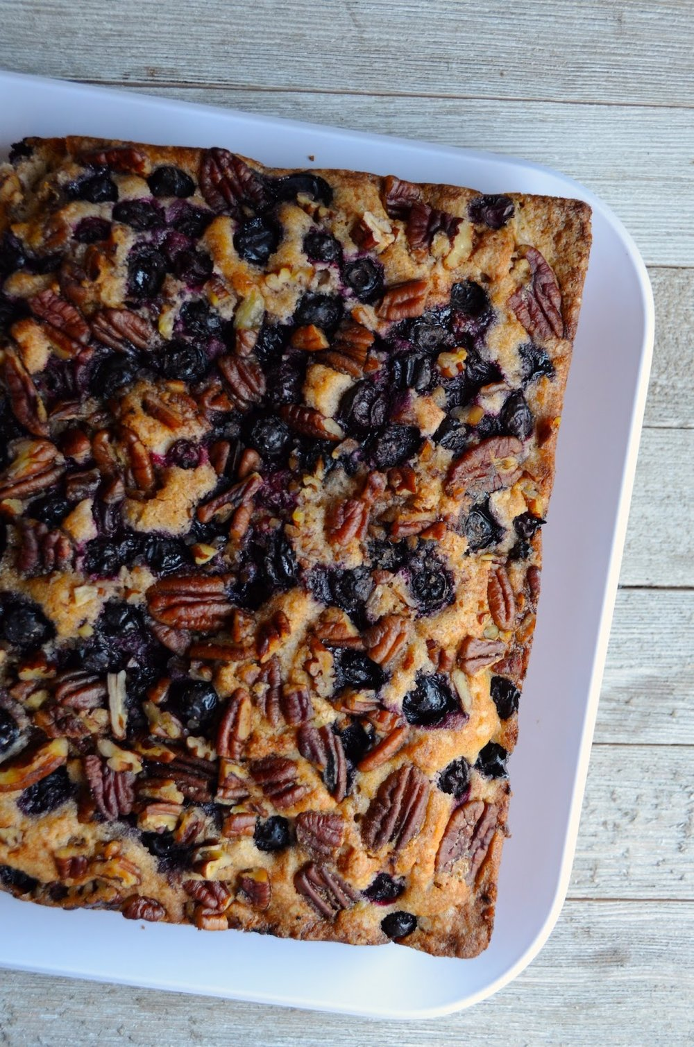 Cinnamon Blueberry Pecan Coffee Cake