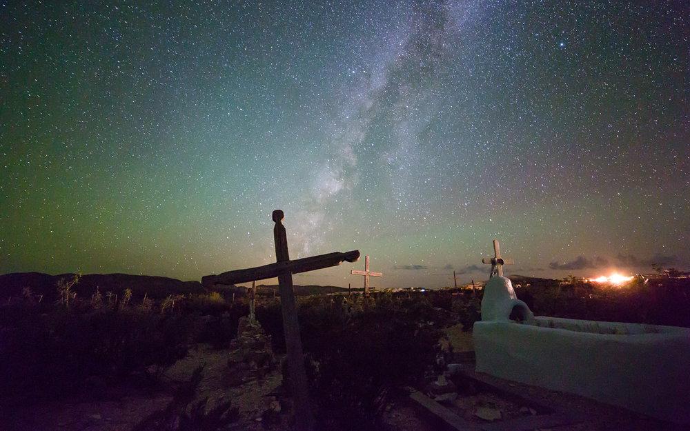 Terlingua Cemetery Milky Way