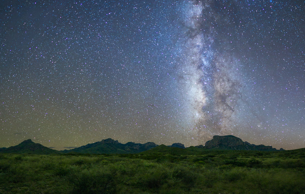 Big Bend National Park Chisos Mountains Milky Way
