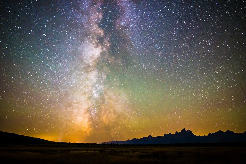 Milky Way of Grand Teton National Park