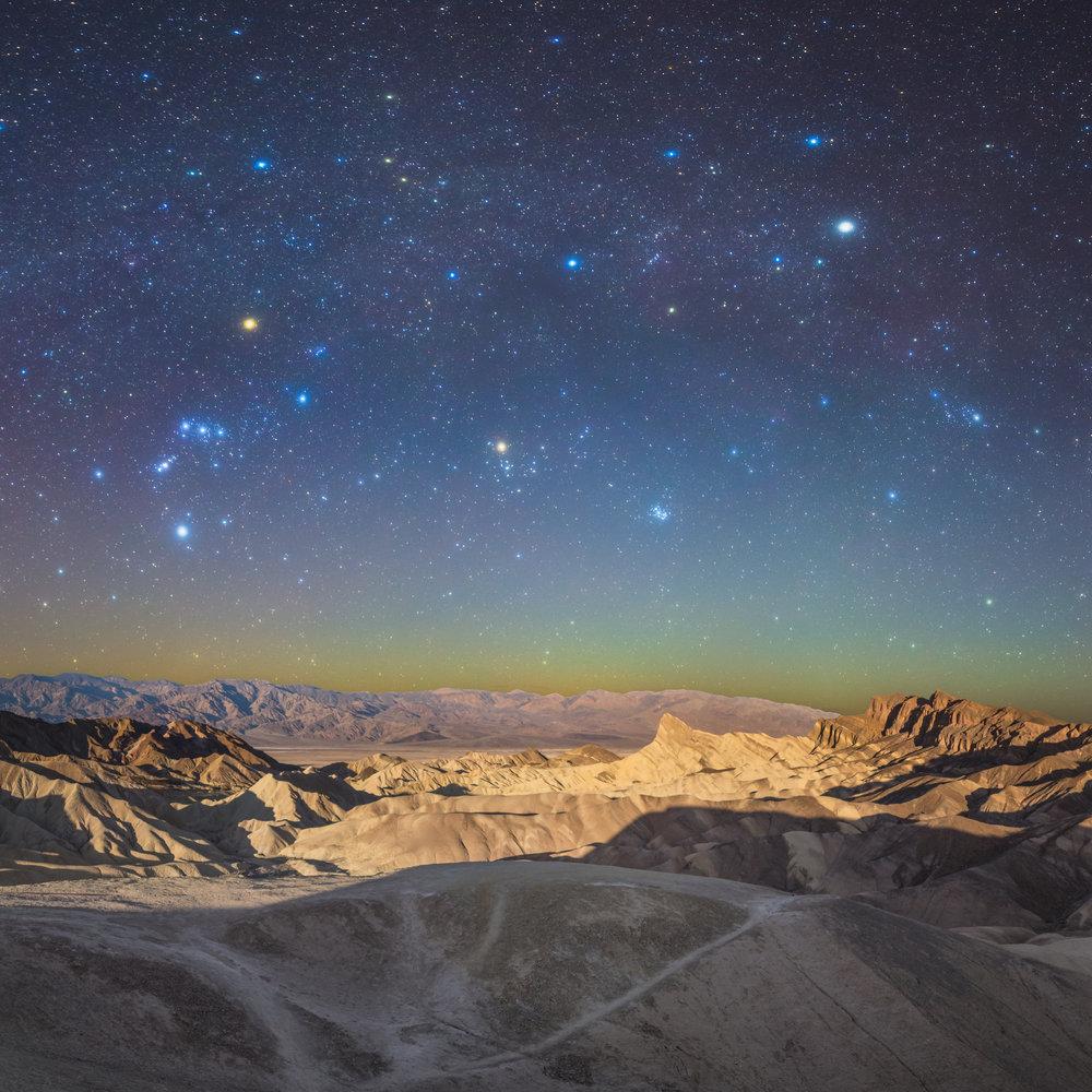 Zabriskie Point Death Valley Nightscape