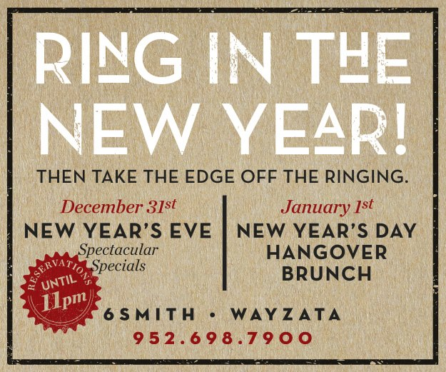 Ring In The New Year! New Year\'s Eve + New Year\'s Day — 6Smith