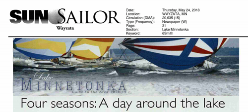 Sun Sailor |  Wayzata, Hopkins, Minnetonka Editions (May 24, 2018) -  'Four seasons: A day around the lake'