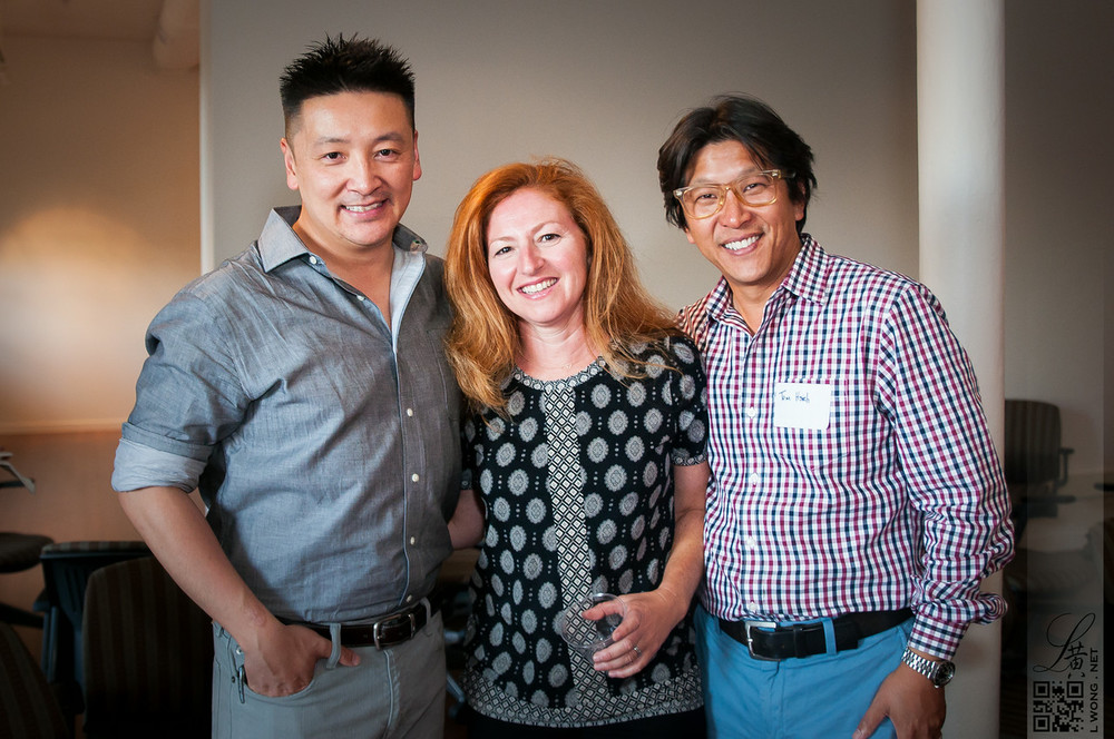 Larry Wong, Rebecca Hsieh, and Tom Hsieh