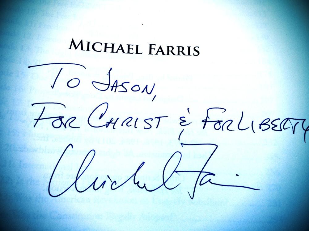 Constitutional Literacy Michael Farris Autograph