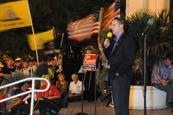 Speaking at the Orlando Tax Day Tea Party, 2010.