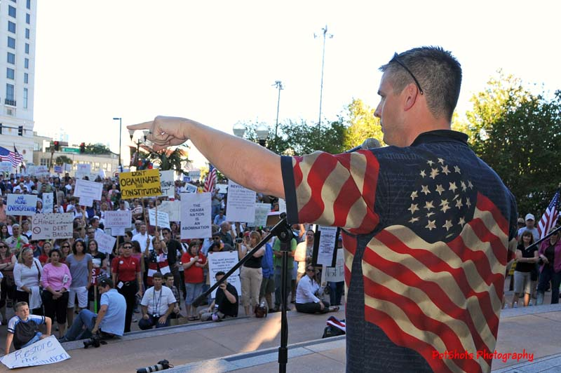 Speaking at the Orlando Tax Day Tea Party, 2009