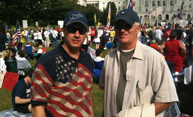 Hoyt and Pratt, Anniversary of March on D.C., Sept 12, 2010 Yes, Hoyt wore the same shirt.