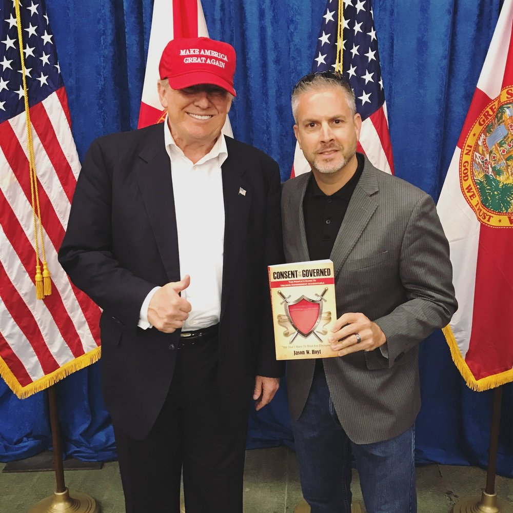 Jason W Hoyt President Donald J Trump Book Consent of the Governed.JPG