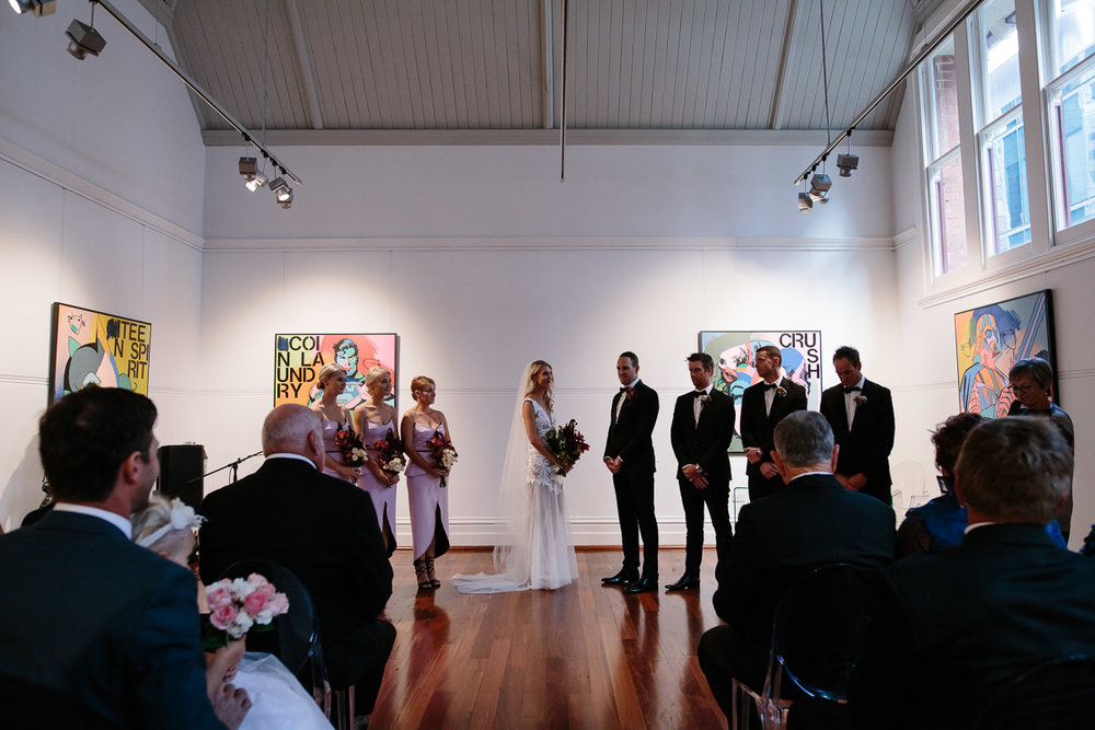 Linton & Kay Gallery wedding ceremony - Peggy Saas